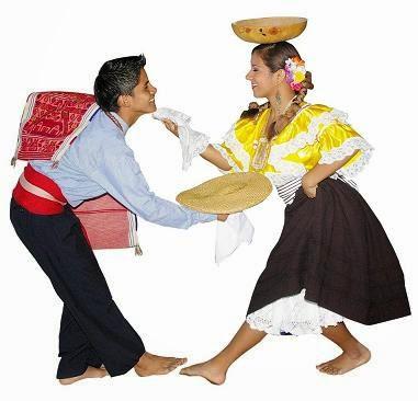 Foto de vestimenta típica de tondero en pleno baile