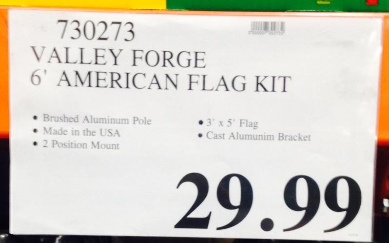 Valley Forge 6 American Flag Kit Costco Weekender