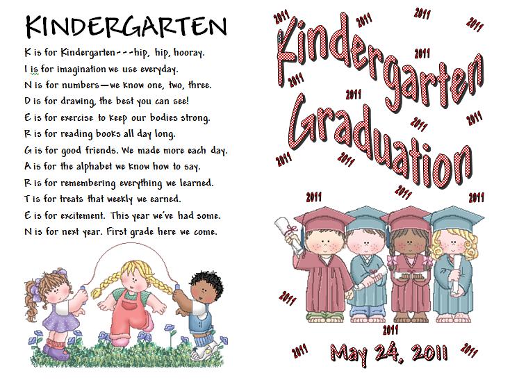 Kindergarten Graduation. Poems For Kindergarten Graduation Ceremony.