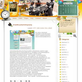 Find Yourself in Colombia Blogger Template. free download template blogspot