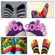 COLOURFUL TOE SOCKS