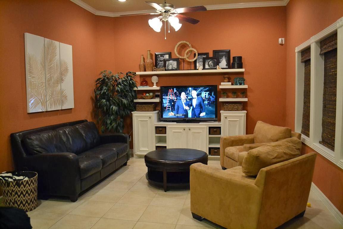 Design Showcase Burnt Orange In The Living Room