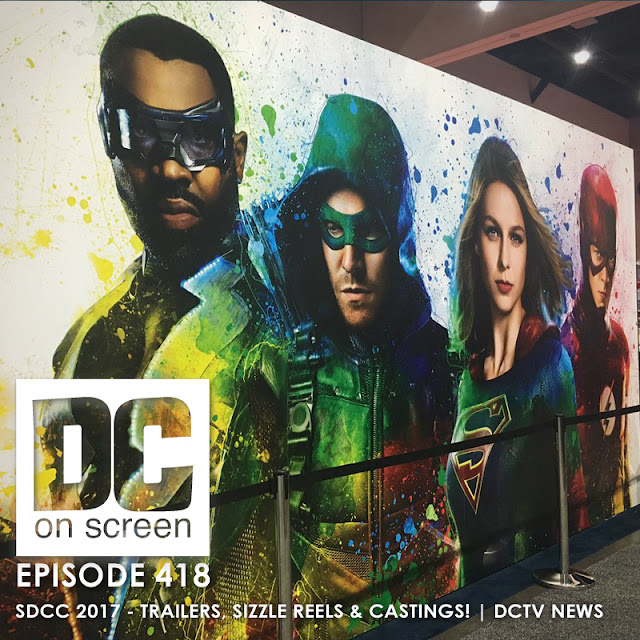 Comic-Con Banner featuring Black Lightning Green Arrow Supergirl and the Flash