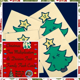 Multiplication and Division Fact Family Christmas Tree Flashcards