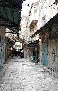 Ruelles de la vieille ville de Jérusalem