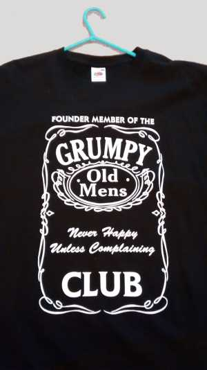 Image of Grumpy Old Men's Club teeshirt