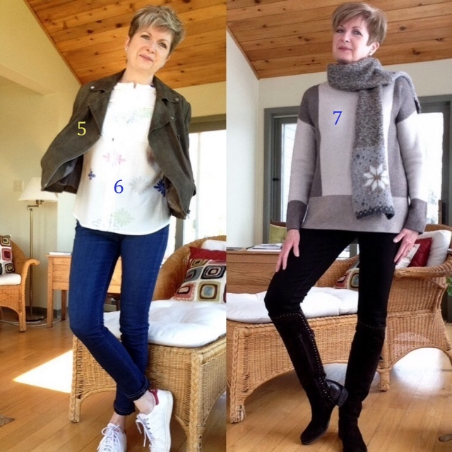 New blouse, jacket and sweater this year.