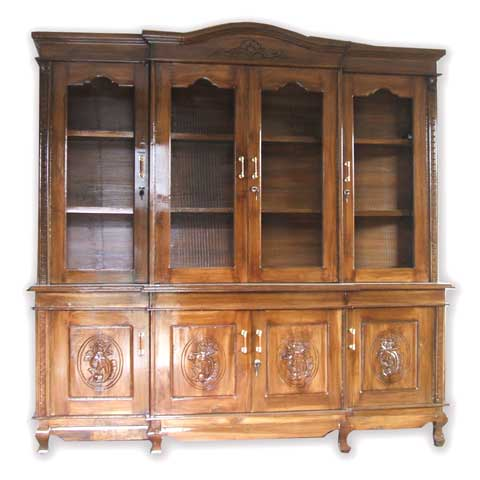 lemari hias pajangan kayu jati