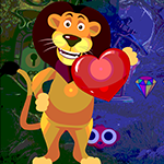 Games4King Lion Love Escape