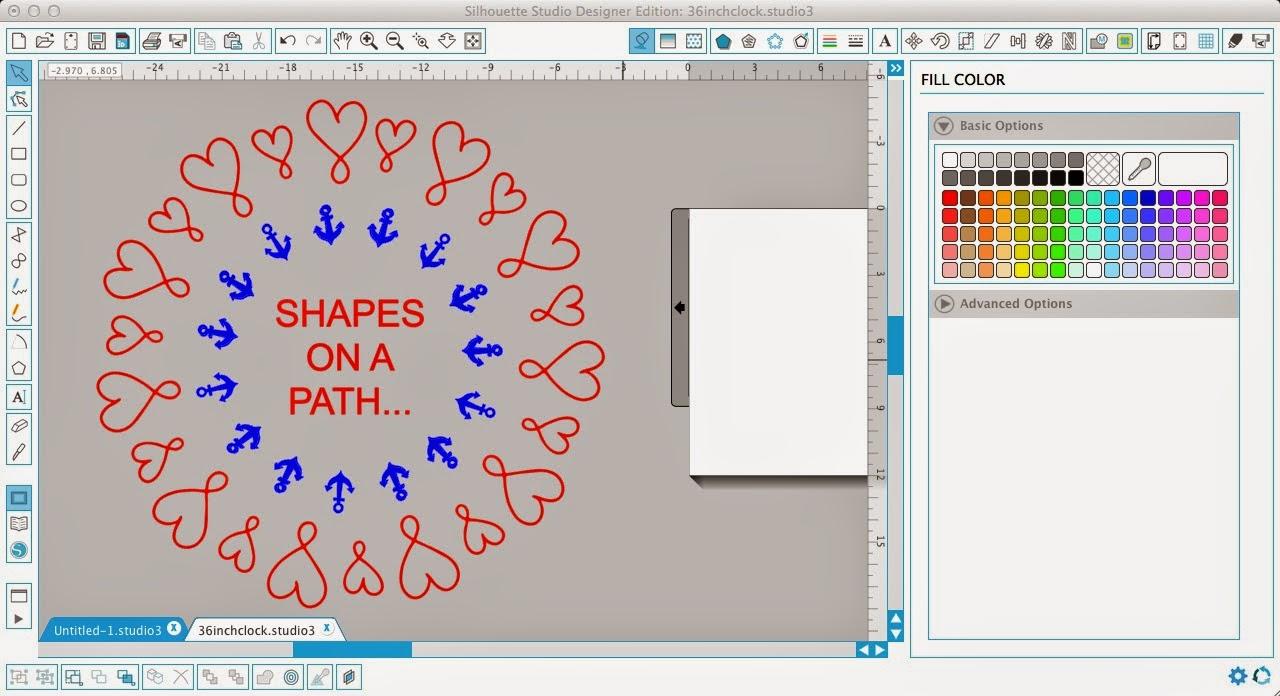 Silhouette Studio, shapes, path, Silhouette tutorial
