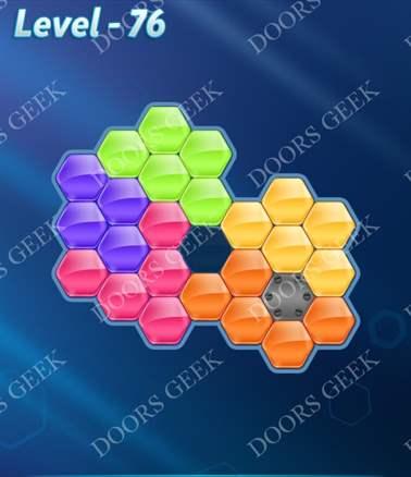 Block! Hexa Puzzle [6 Mania] Level 76 Solution, Cheats, Walkthrough for android, iphone, ipad, ipod