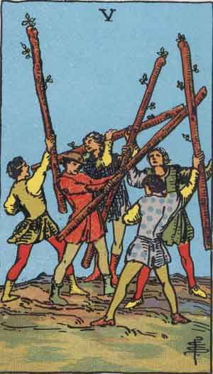 Five of Wands, RWS