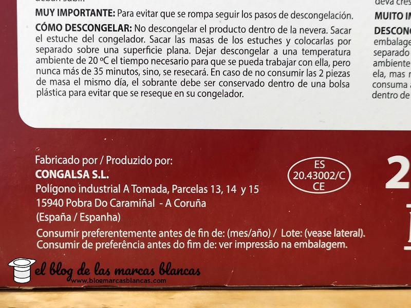 Cómo descongelar la Masa de hojaldre congelada HACENDADO (Mercadona) fabricada por Congalsa - El blog de las marcas blancas (www.blogmarcasblancas.com)