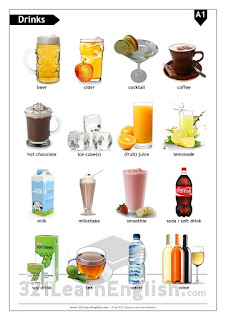 ESL handout/worksheet: Drinks/beverages (basic) - Level: A1 - 321learnenglish.com