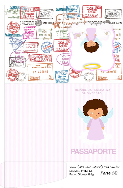 Pasaporte para Imprimir gratis de Angelita Morena.
