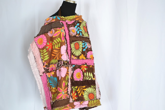 How to Sew a Nursing Cover with Boning Rag Quilt Style from A Vision to Remember