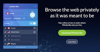 Cara Mendapatkan Windscribe VPN Proxy Premium