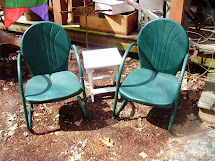 Log Cabin Antiques & Vintage Metal Lawn Chairs