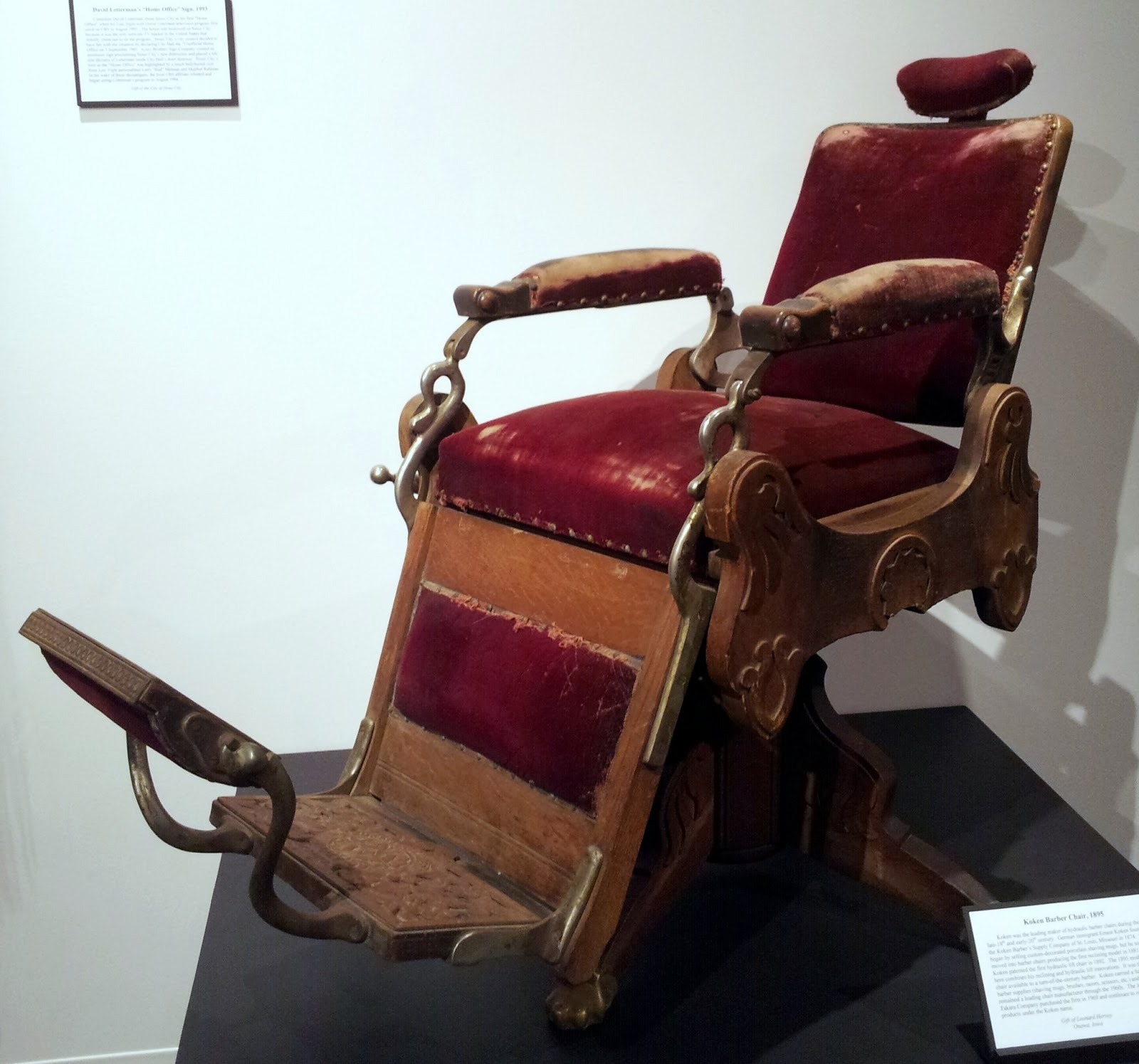 Koken Barber Chair Best Portable Picnic History And Culture By Bicycle Sioux City Public Museum