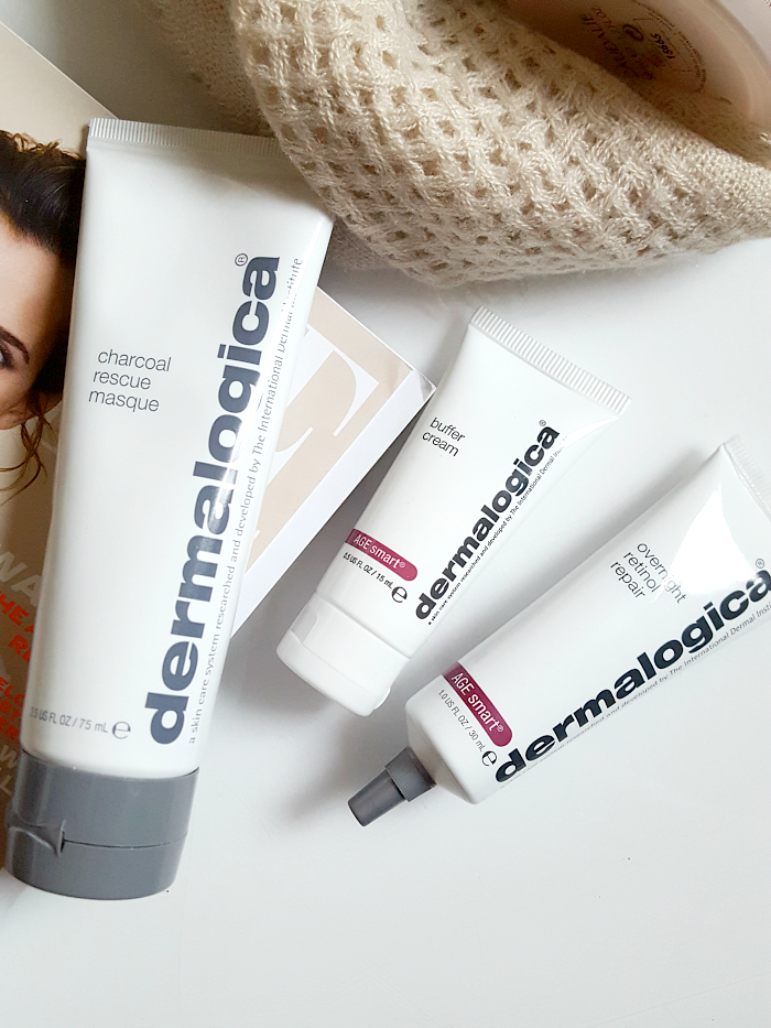 Review: dermalogica Overnight Retinol Repair, Buffer Cream, Charcoal Rescue Mask