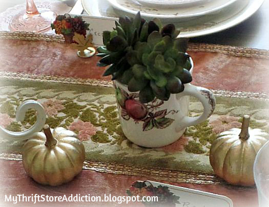 Rosy fall tablescape