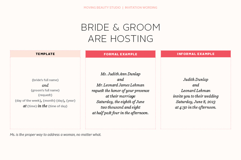 Wedding Invitation By Bride And Groom Wording Samples: Sample Wedding Invitations