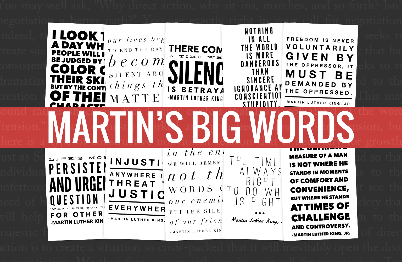 Quotes to get your students talking beyond the dream when learning about Martin Luther King, Jr.