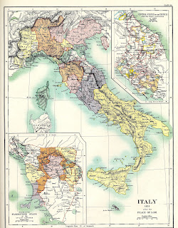 The Peace of Lodi required the map of 15th century Italy to be redrawn