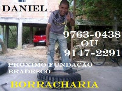 Borracharia do Daniel 9763-0438 ou 9147-2291 próximo Fundação Bradesco em Registro-SP