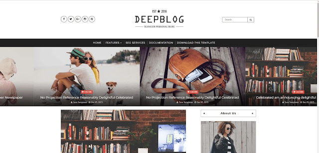Share Free Template Deep Blog Chuẩn Responsive 2018 Version 1.0