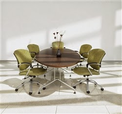 Elliptical Conference Room Table