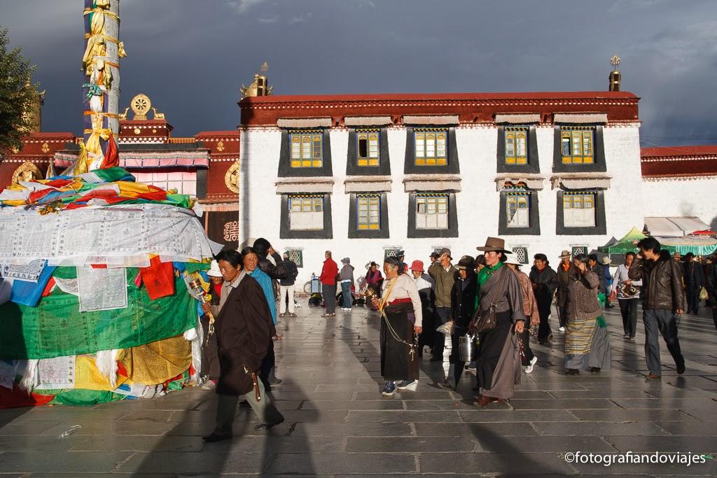 Jokhang Kora en Lhasa Tibet