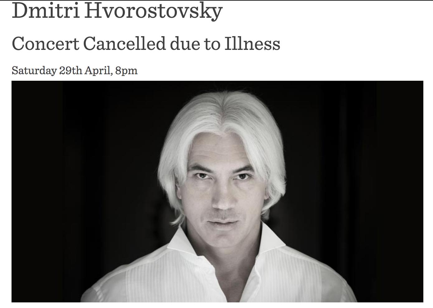 Due to illness, Dmitry Hvorostovsky cancels his concerts 19.09.2017 93