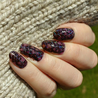 Nailways Darker Period - Halloween and SV by Sparkly Vernis Blurple Ice Cubes