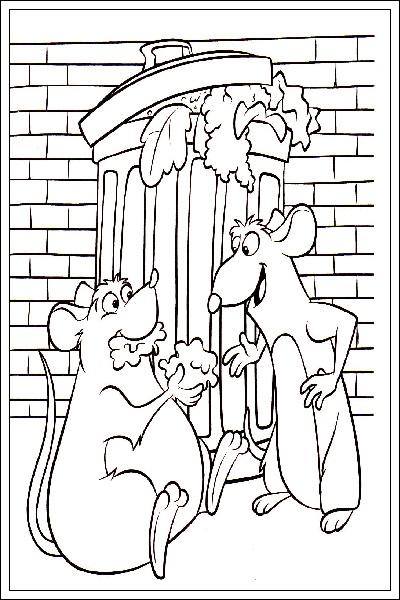 Ausmalbilder Ratatouille zum Drucken - AusmalbilderHQ