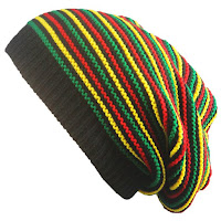 Pinstriped Knitted Iridescence Folding Beanie - Colorful