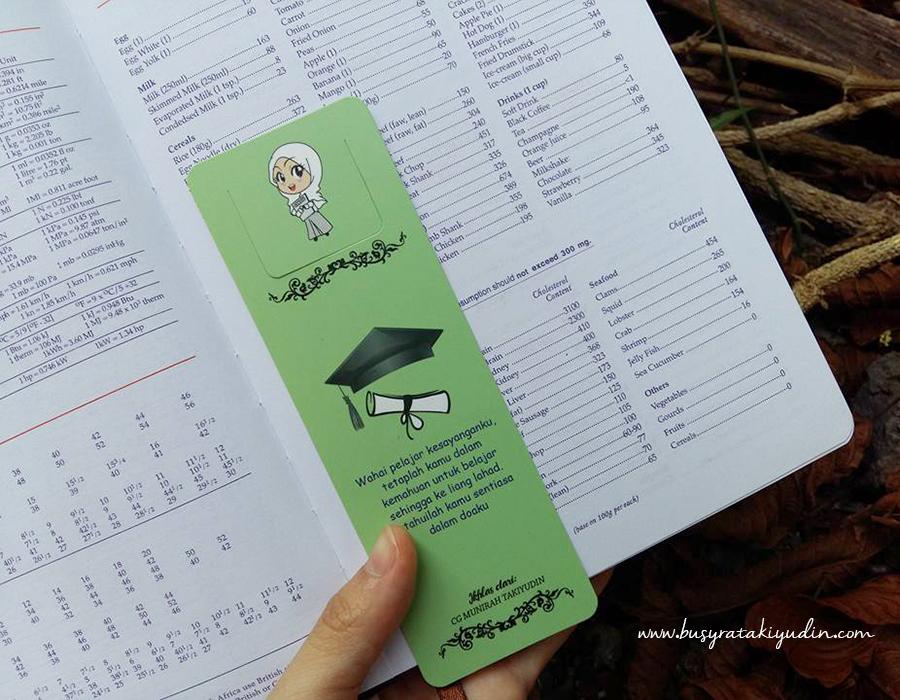 bookmark, penanda buku, printing murah, bookmark murah alor setar, design dan printing, printing alor setar,
