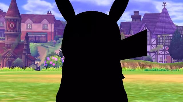 Pokémon Sword Shield wild Pikachu silhouette