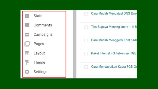 Cara Mengubah Bahasa Inggris di Blogger Menjadi Bahasa Indonesia
