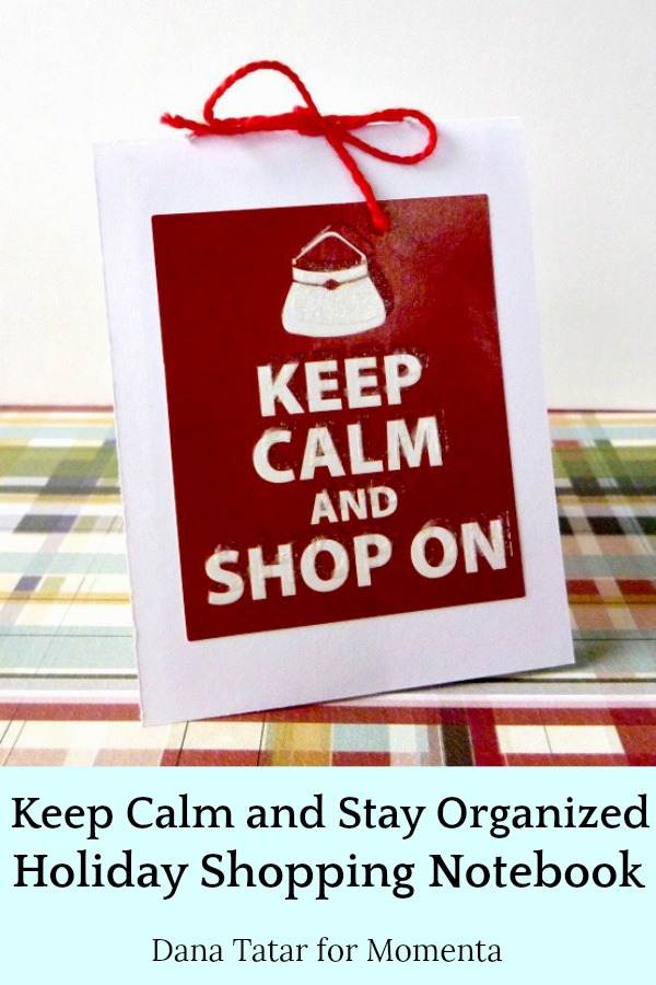 White Cardstock Notebook with Red Shop On Sticker