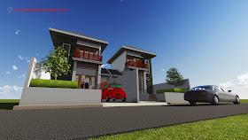Dimensi Maket Arsitektur : Rendering 3D - Desain Rumah 004
