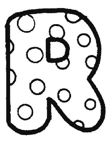Bubble Letter R Coloring Pages
