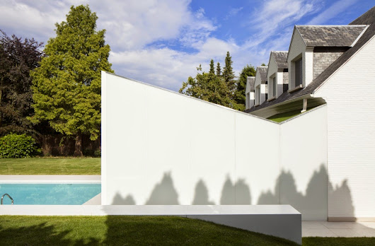 Clean-Lined Residence with Swimming Pool inside Wemmel, Belgium