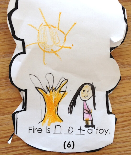 Fire hydrant safety book. Fire Safety activities for first grade. GradeONEderful.com