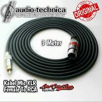 Kabel Mic XLR Female To RCA 3 Meter Kabel Audio Technica