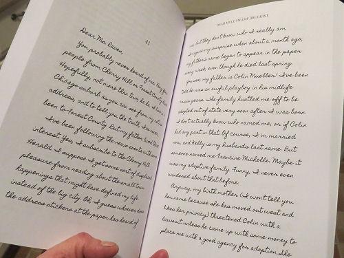 inside page of Dead Mule Swamp Druggist books