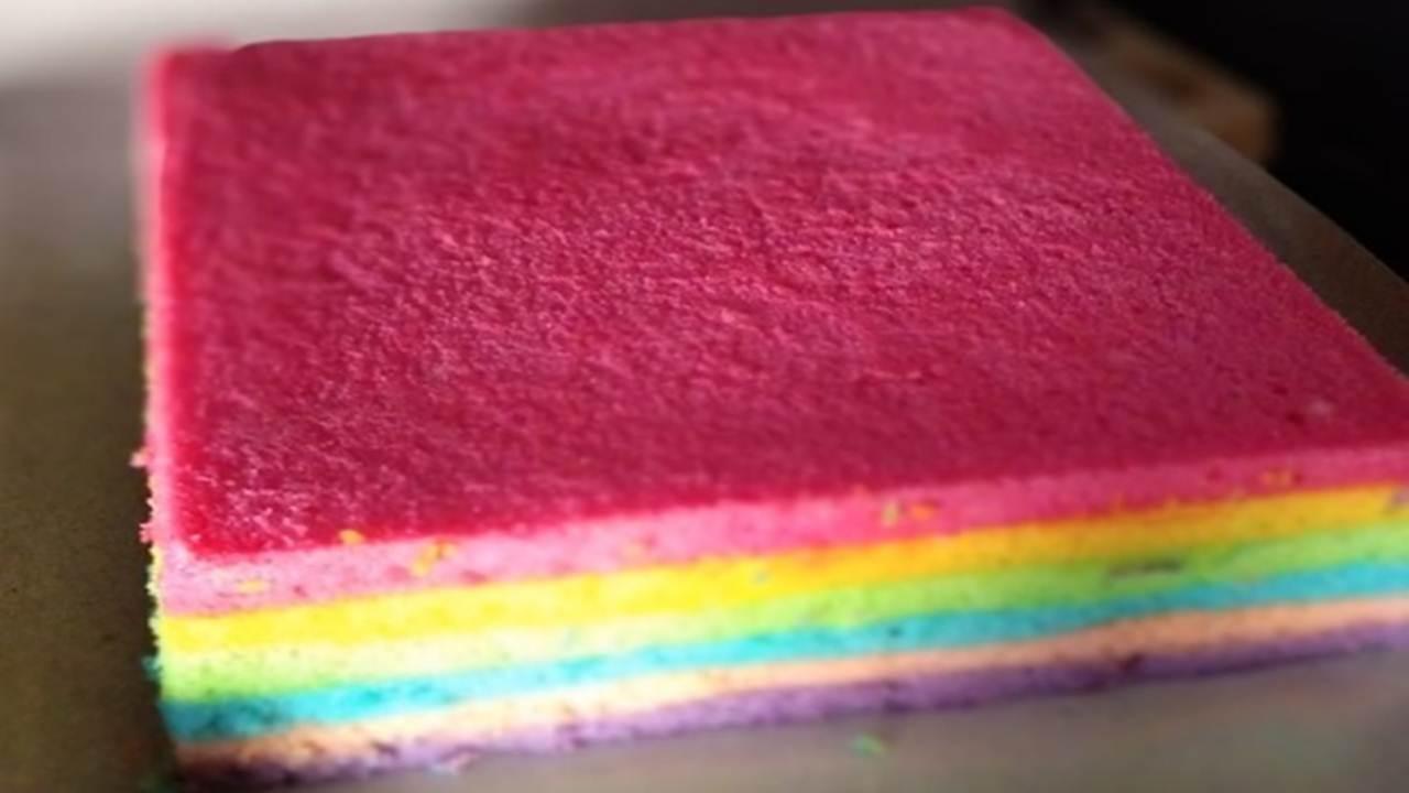 Resep Membuat Brownies Pelangi Warna Warni