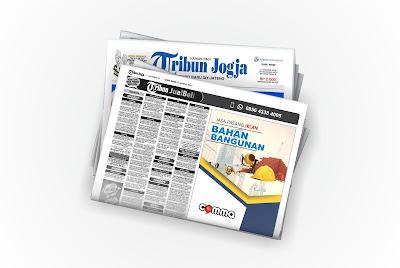 iklan bahan bangunan di koran tribun jogja