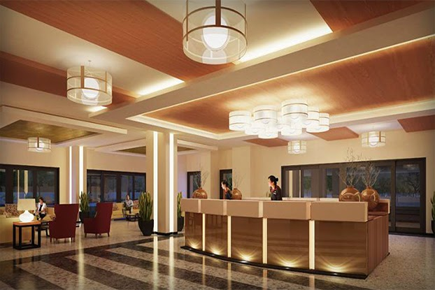 One Castilla Place Reception Lobby