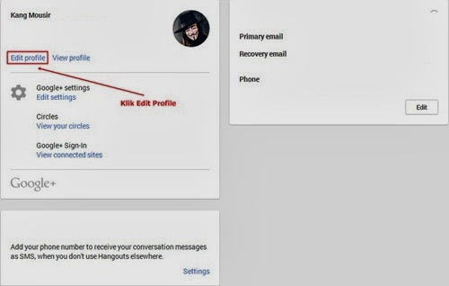 Setting Google Plus